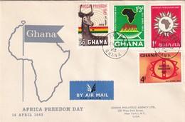 Ghana 1965, FDC Complete Set Africa Freedom Day - Ghana (1957-...)