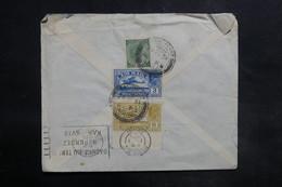 INDE - Enveloppe De Pondichery Pour La France En 1935 , Affranchissement Plaisant Au Verso - L 35604 - India (...-1947)