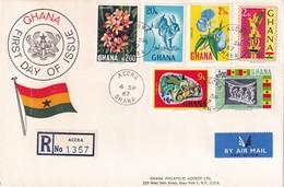 Ghana 1967, Registered FDC Complete Set - Ghana (1957-...)