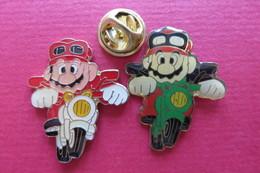 2 Pin's,Jeu MARIO, Nintendo - Marcas Registradas