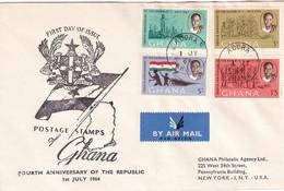 Ghana 1964, FDC Complete Set - Ghana (1957-...)