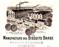 BISCUITS BARBE  (Pauthe & Fournier)       BEDARRIEUX (Herault)  TOP Illlustration  1912 - Lettres De Change