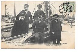 """Cpa...Saint-Malo...les Survivants Du """"Hilda""""...naufragé Le 19 Novembre 1905...120 Passagers...animée...1907.. - Saint Malo"""