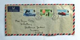 British Antarctic Territory (BAT) Air Mail Cover Base Z Halley Bay 1969 ! Rare ! - Britisches Antarktis-Territorium  (BAT)