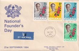 Ghana 1964, Registered FDC Complete Set - Ghana (1957-...)