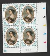 FRANCE / 2019 / Y&T N° 5337 ** : Madame De Maintenon X 4 - Coin Daté 2019 03 13 - Coins Datés