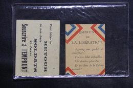 MILITARIA - Cartes De Propagande Pour Souscription à L 'Emprunt  Pour Nos Soldats - L 35609 - Documenten