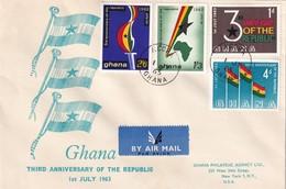Ghana 1963, FDC Complete Set - Ghana (1957-...)