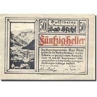 Billet, Autriche, Bad Ischl, 50 Heller, Montagne 1920-12-31, SPL Mehl:FS 77c - Austria