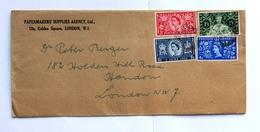 Great Britain 1953 Registered Air Mal Cover  ! Rare ! - 1952-.... (Elizabeth II)