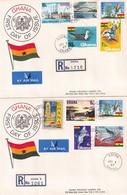 Ghana 1967, 2 Registered FDC's Complete Set - Ghana (1957-...)