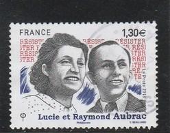 FRANCE 2018 LUCIE ET RAYMOND AUBRAC OBLITERE YT 5219 - Oblitérés