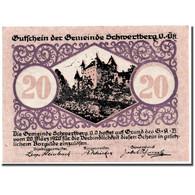 Billet, Autriche, Schwertberg, 20 Heller, Ecusson, 1920, 1920-03-20, SPL - Austria