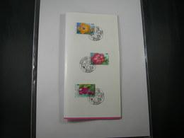 """BELG.1995 2589/2591 Zegels Met 1°dagstempel Op NL Postfolder : """" Gentse Floralien """" - FDC"""