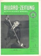BILLARD - ZEITUNG Nr 9 De  1958 .(jm) - Sport