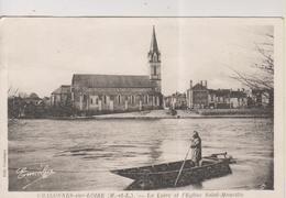 CPA-49-Maine Et Loire- CHALONNES-sur-LOIRE- La Loire Et L'Eglise Saint-Maurille- - Chalonnes Sur Loire