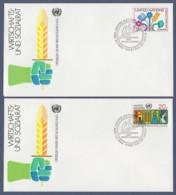 UNO-UN New York FDC 1980 - MiNr. 364-365 - Wirtschafts- Und Sozialrat Der Vereinten Nationen (1) - FDC