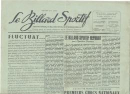 """Journal """" Le Billard Sportif """" N° 161 De Janvier 1950 - France (jm) - Sport"""