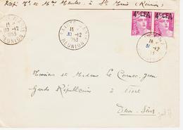 REUNION , En 1953, De Sainte Marie  Sur Paire De 4f Cfa Gandon  TB - Réunion (1852-1975)