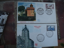 Lot 5 Fdc Annees 59 - FDC