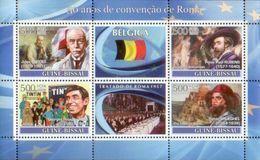 GUINEA BISSAU 2008 - Belgium, Tintin - YT 2480-3 - Cómics
