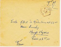FRANCE, De Nemours Marine Oran En 1958 Agence Postale    TB - Marcophilie (Lettres)