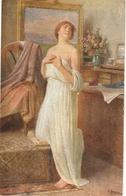 """Josef Straka. Lady. DasModel"" Fine Painting, Vintage German Postcar - Mujeres"