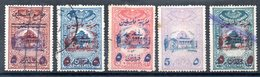 GRAND LIBAN - 5 Fiscaux Différents Surchargés Pour L'armée - Used Stamps