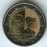 Luxembourg 2 Euro 2019 100 Ans De L'accession Au Trone De La Grande Duchesse Charlotte UNC - Luxemburg