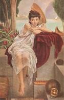 """Ed. I. Pointer. Youg Gir. In Neapel"" Fine Painting, Vintage German Postcar - Mujeres"