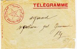 MAROC, Enveloppe Telegramme     TB - Brieven En Documenten