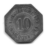 Notgeld  Hamborn 10 Pfennig 1917 Zn 5595.2/f190.3 - [ 2] 1871-1918 : Empire Allemand