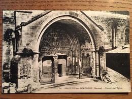 CPA, Beaulieu Sur Dordogne, Corrèze, 19, Portail De L'Eglise, - Francia