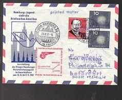 1958 Scarce Early Pan-American Flight Hamburg – Philadelphia London (540) - [7] República Federal