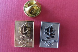 2 Pin's,ALBERTVILLE 92, JO,olympic Games,Olympische Spiele,Sport - Olympic Games