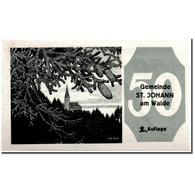 Billet, Autriche, St Johann, 50 Heller, Paysage, 1921, 1921-01-21, SPL, Mehl:893 - Austria