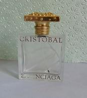 """Flacon Spray  """"CRISTOBAL  """"  De BALANCIAGA  Eau De Toilette  50 Ml Vide/Empty Pour Collection - Flacons (vides)"""