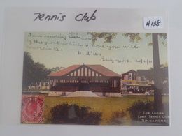 Old Reproduction Colour Postcard - Singapore The Ladies Lawn Tennis Club (#138) - Singapur