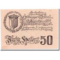 Billet, Autriche, St Georgen, 50 Heller, Portrait, SPL, Mehl:FS 890 - Austria
