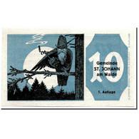 Billet, Autriche, St Johann, 10 Heller, Personnage, 1921, 1921-01-21, SPL - Austria