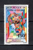 COTE D'IVOIRE   N° 565  NEUF SANS CHARNIERE COTE  1.80€  TELECOMMUNICATIONS - Ivory Coast (1960-...)