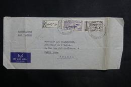 LIBAN - Enveloppe En Recommandé De Beyrouth Pour Paris En 1959 - L 35640 - Lebanon