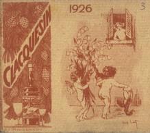 Calendrier Publicitaire CLACQUESIN 1926 - Publicidad