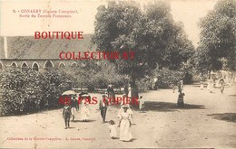 ☺♦♦ GUINEE - CONAKRY - SORTIE Du TEMPLE PROTESTANT < CLICHE RARE N° 9 = Au N° 260 Edition A. James - French Guinea