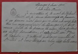 88 LEPANGES CDV  Lettre  Deces Du Colonel BENIER 171e RI  1 5 16 Baleycourt - Historical Documents
