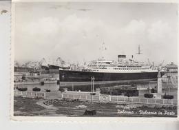 PALERMO TRAGHETTO NAVE SHIP BATEAUX VULCANICA IN PORTO 1959 - Palermo