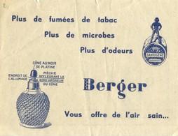 Publicité Sur La Lampe BERGER - Publicités