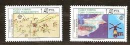 Chypre Turc 2006 Yvertn° 585-586 *** MNH  Cote 6,00 Euro 50 Ans Europa 50 Jaar - Chypre (Turquie)