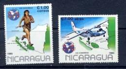 237 Nicaragua N° 1364 + 1089 Congres Upae Avions (Airplanes) - Nicaragua
