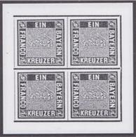 Bayern - Replica Of The First German Stamp - The Bavarian 1 Kreuzer - Made By Bundesdruckerei Berlin (H56) - Bayern